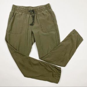 MAURICES Cotton Lyocell Army Green Jogger Pants